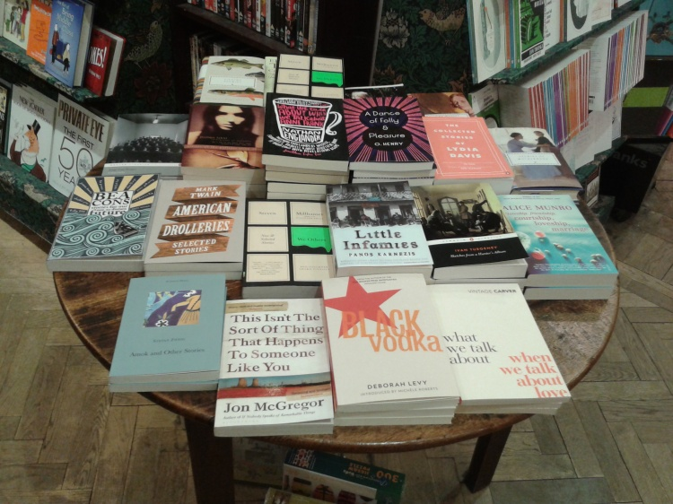 Display of Short Story Collections, Daunt Books, Marylebone