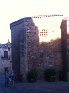 Plaza de San Pablo in Caceres Old Town 2 May 2014
